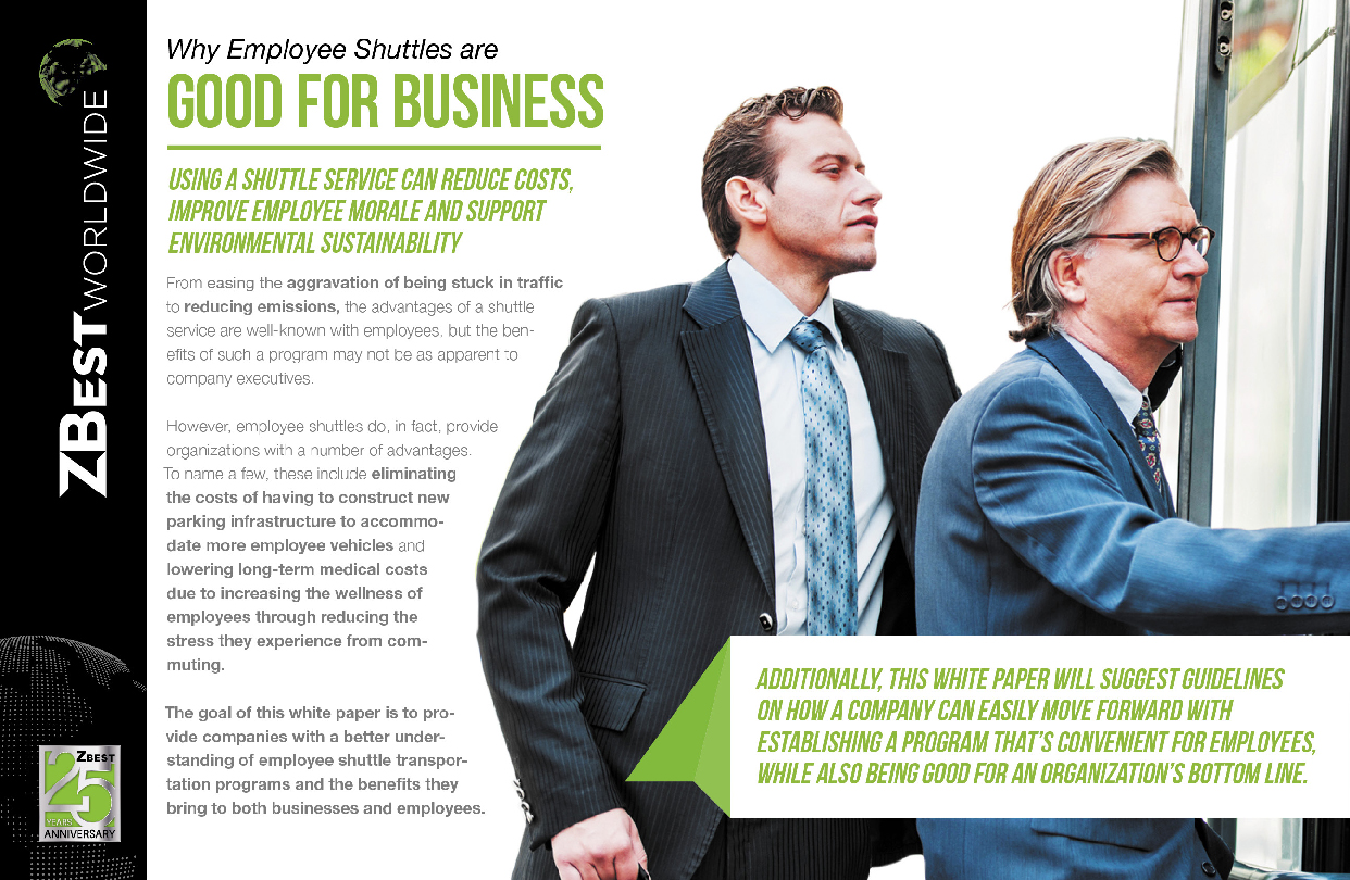 ZBest collateral brochure page design