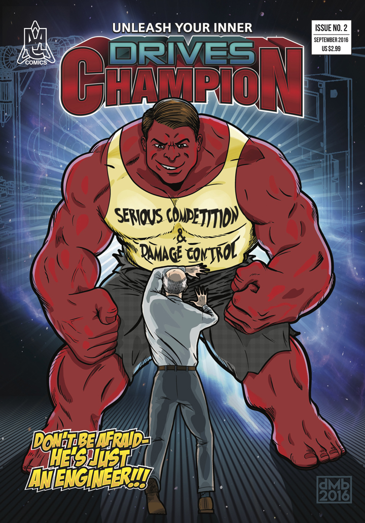 Siemens Drives Champion comic book cover