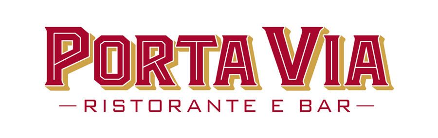 Porta Via Ristorante Nashville logo design