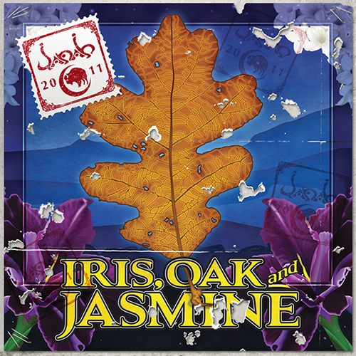 Janah Iris, Oak, and Jasmine CD jacket cover design
