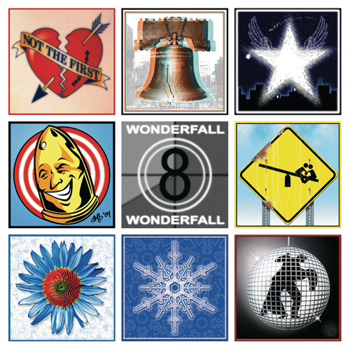Wonderfall CD jacket cover design