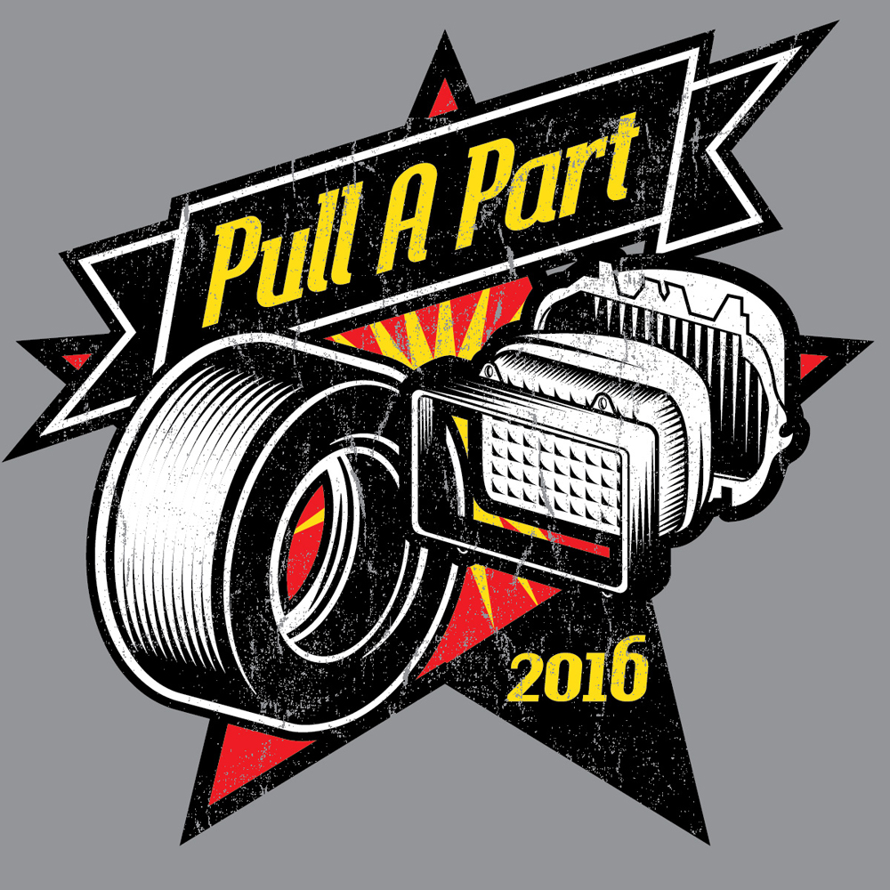 Pull A Part t-shirt design